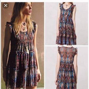 Lili's closet Ruffle Tiered Mini Swing Dress Small